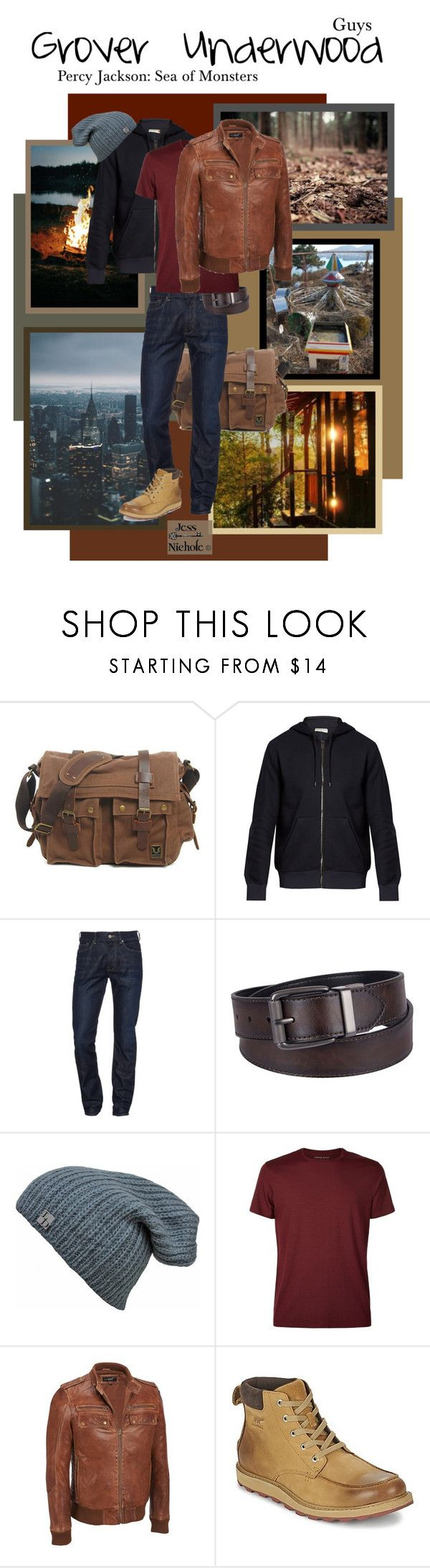 """Guys: Grover Underwood"" by jess-nichole ❤ liked on Polyvore featuring Balenciaga, 7 For All Mankind, Urban Pipeline, Derek Rose, SOREL, men's fashion and menswear"