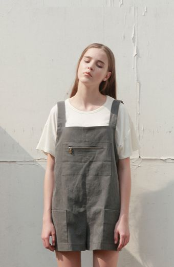 LOW CLASSIC (brand): shirt + overalls (minimalist) effortlessly chic, tomboy sty