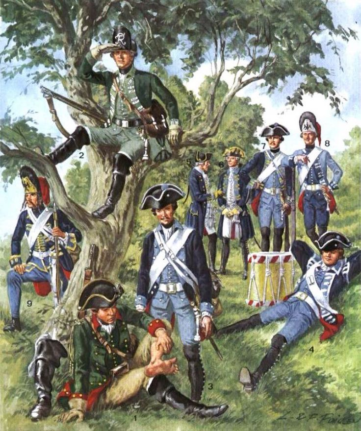 Soldiers of Frederick the Great's army.