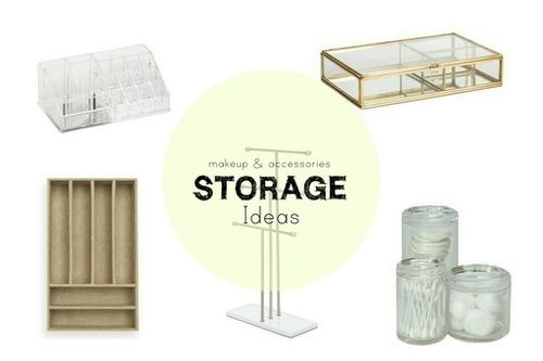 Makeup & Accessories Storage Ideas #storage #organization #makeup #jewelry #accessories #storageideas #makeuporganization #makeupstorage #jewelrydisplay