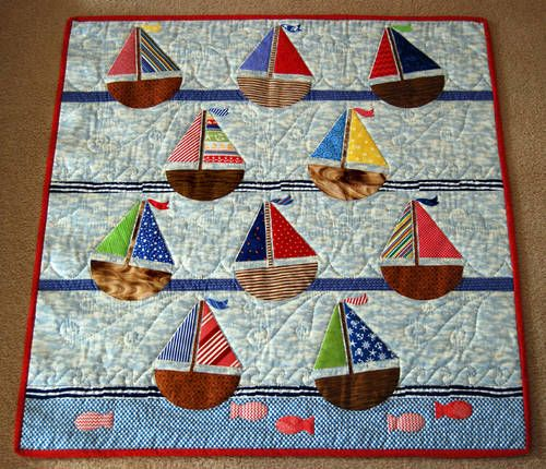 Sailboat Baby Quilt nautical quilt patterns find the largest selection of nautical quilt ...