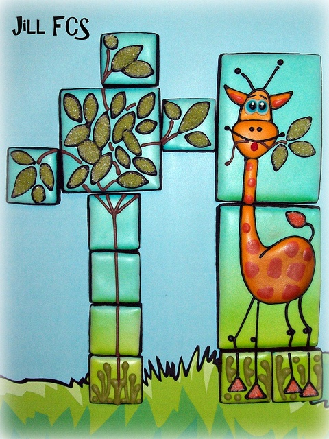 Silly Giraffe! (leftover dough and leftover icing) by Jill FCS, via Flickr