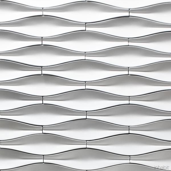 Origami Cast Architectural Concrete Tile - Primer White - - Outlet Cast Tiles - Inhabitliving.com - Inhabit - 6