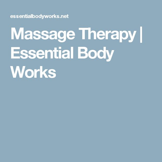 Massage Therapy | Essential Body Works