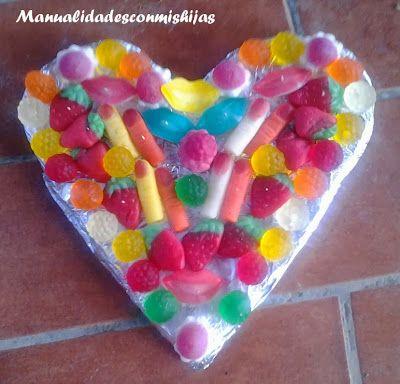 42 best mcmh cumplea os dulces coronas images on - Manualidades con gominolas ...