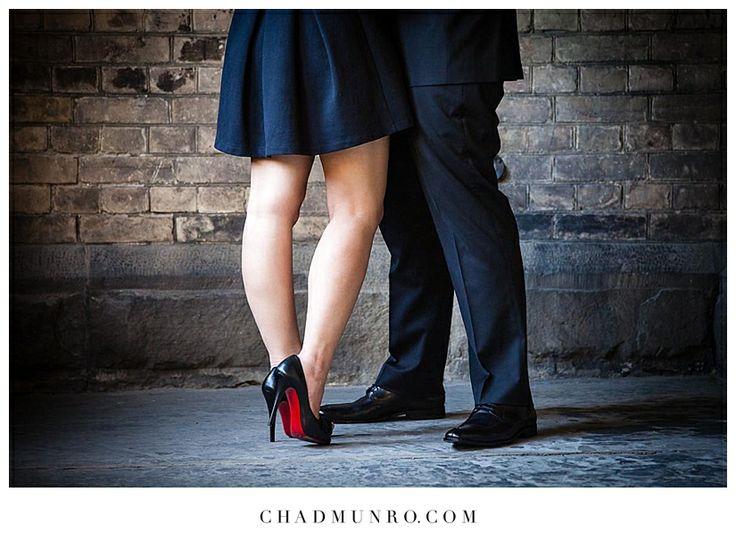 Fashion shines in this Toronto Engagement #louboutin