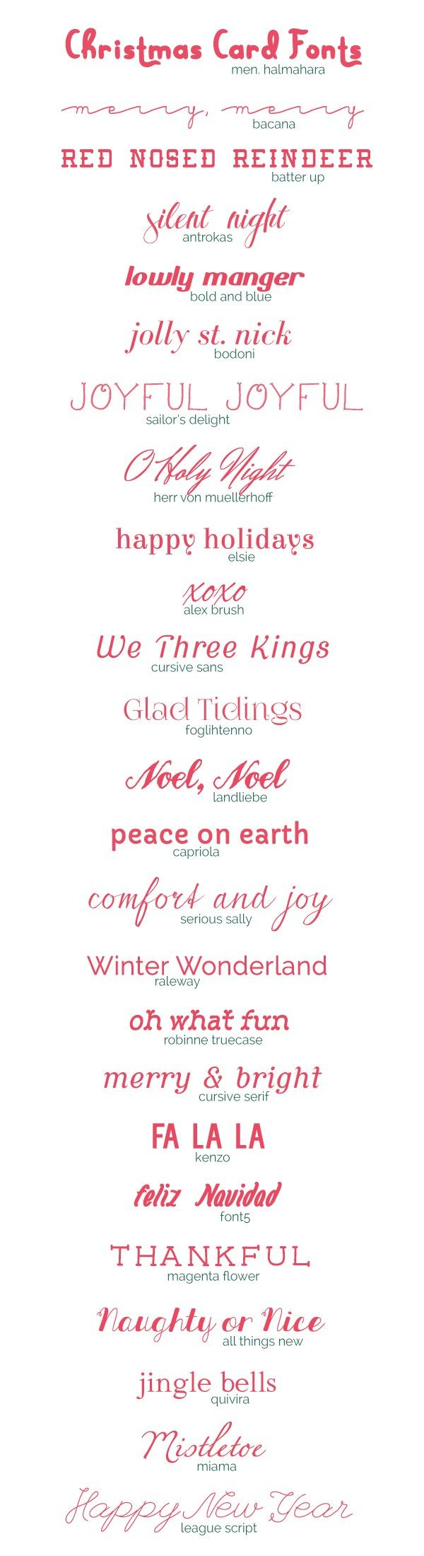 Best 20 Christmas Fonts Ideas On Pinterest Holiday