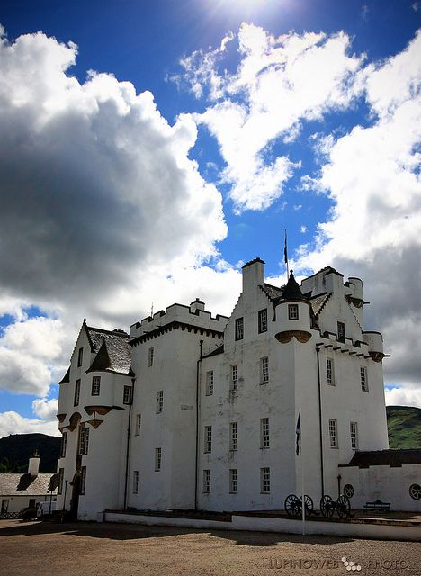 Blair Castle -  the ancient seat of the Dukes and Earls of Atholl. The castle enjoys one of Scotland's finest settings in the heart of the Highland Perthshire.