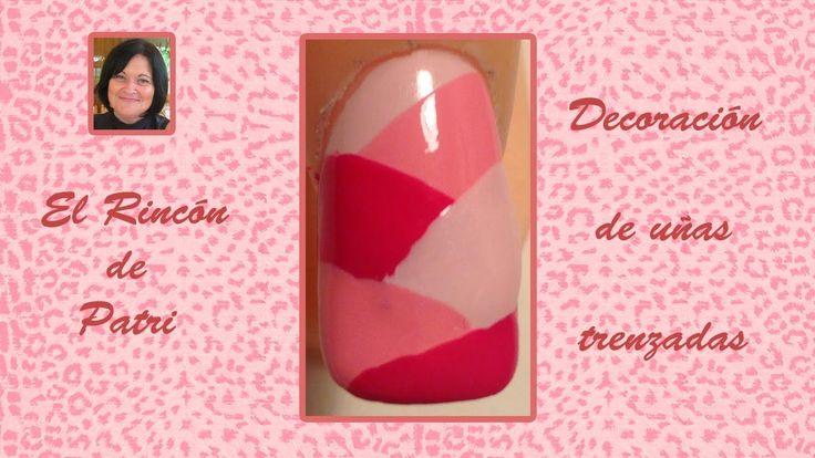 Diseño de uñas trenzadas- El rincón de Patri Braid Nail Art. Sigue todos nuestros diseños de decoración de uñas en http://www.rincondepatri.com