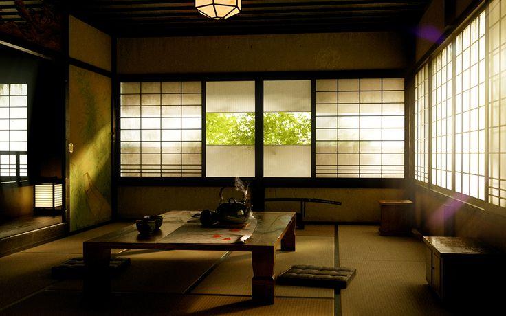 Wallpapers4u: Japanese room asian oriental window tea desktop ...