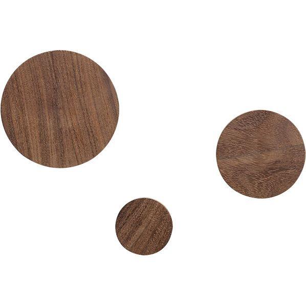 set of 3 dot coat hooks    CB2