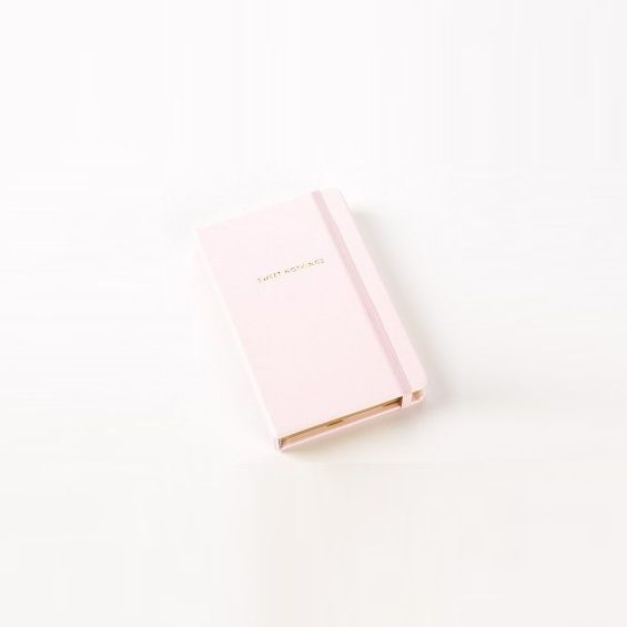 kate spade new york blush pink and gold sweet nothings notebook