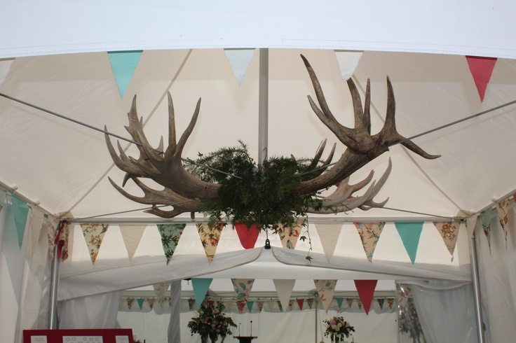 Make a statement.  This idea works so well in our entrance marquee for our high country clients.