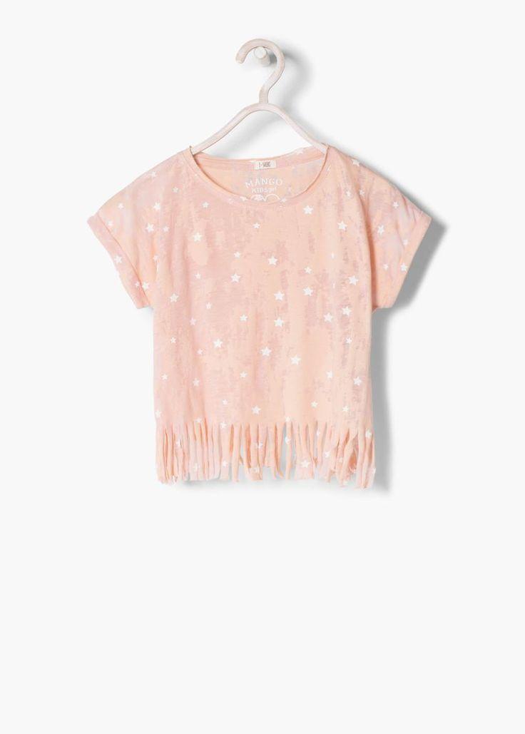 T-shirt étoiles franges | MANGO KIDS