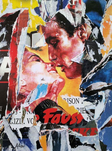 Umberto Alizzi Fronte del Porto décollage Marlon Brando manifesto movie poster vintage pop art mimmo rotella collage fine art