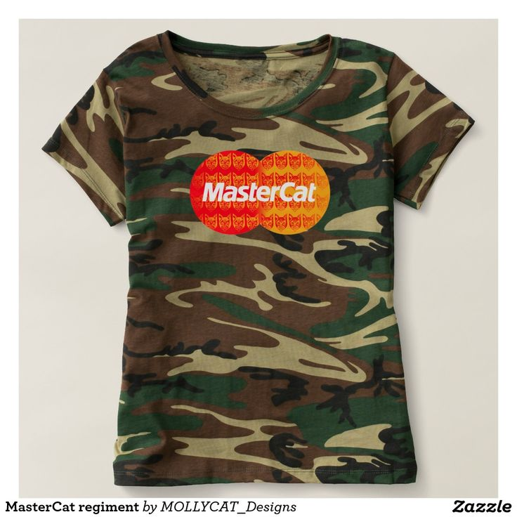 MasterCat regiment T-shirt. #mollycat #mastercard #parody #mashups #funny #cashcards #business #banks #money #cats