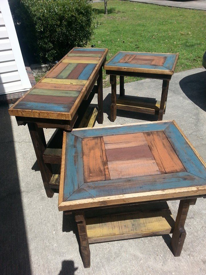 Sofa Console Table With Matching End Tables Painted And