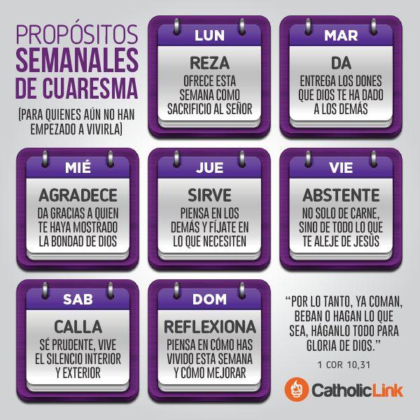 Biblioteca de Catholic-Link - Infografía: Propósitos semanales para la Cuaresma