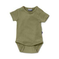 Infant bodysuit Pesto Green. Natural basic for baby & toddler. http://silkylabel.nl/romper-korte-mouw.html