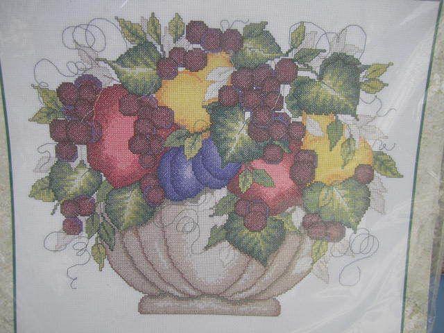 SeeSallySew.com - Fruit Floral Bowl of Fruit Cross Stitch Needlework Bucilla 43127 Kit , $20.00…