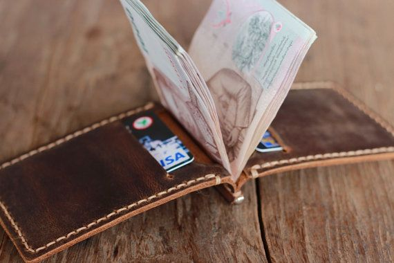 Leather Money Clip Wallet  Distressed Leather Wallets by JooJoobs, $32.00