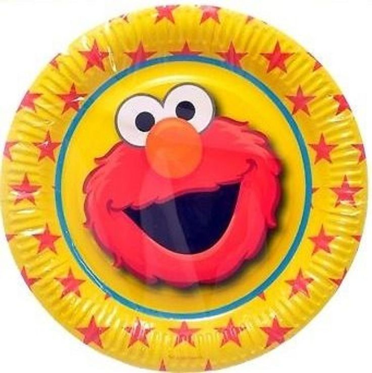 Elmo Sesame Street Party Supplies - Paper Party Plates 6 pack 23cm
