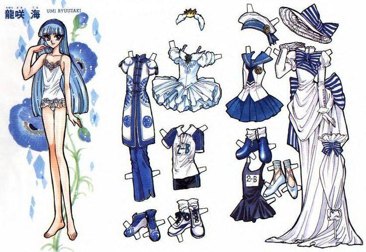 ॣ•͈ᴗ•͈ ॣ)♡ Paper Doll Magic Knight Rayearth
