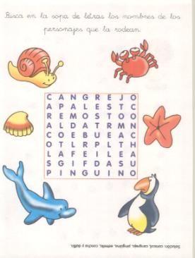 Animales Sopa De Letras Y Juegos Pinterest