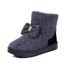 Sougen Ayak Bileği Çizmeler Kış Ayakkabı Sonbahar Kar Kürk Bot Ile 2017 Kadınlar Marka Siyah Markalar Sıcak 2016 Deri Markalı Lüks(China (Mainland))