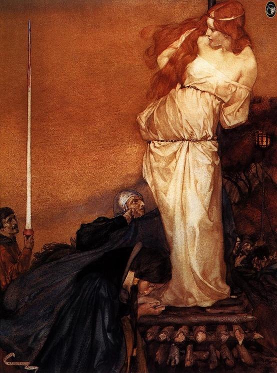 """Guinevere Rescued by Lancelot"" by Edward Burne-Jones."