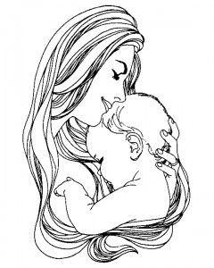 Dia das Mães Desenho Pra Colorir Online