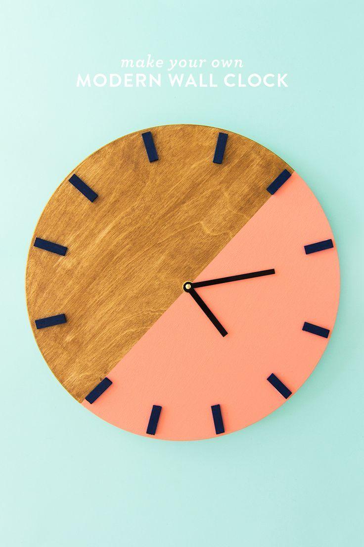 DIY Colorblock Wall Clock 162 best DIY