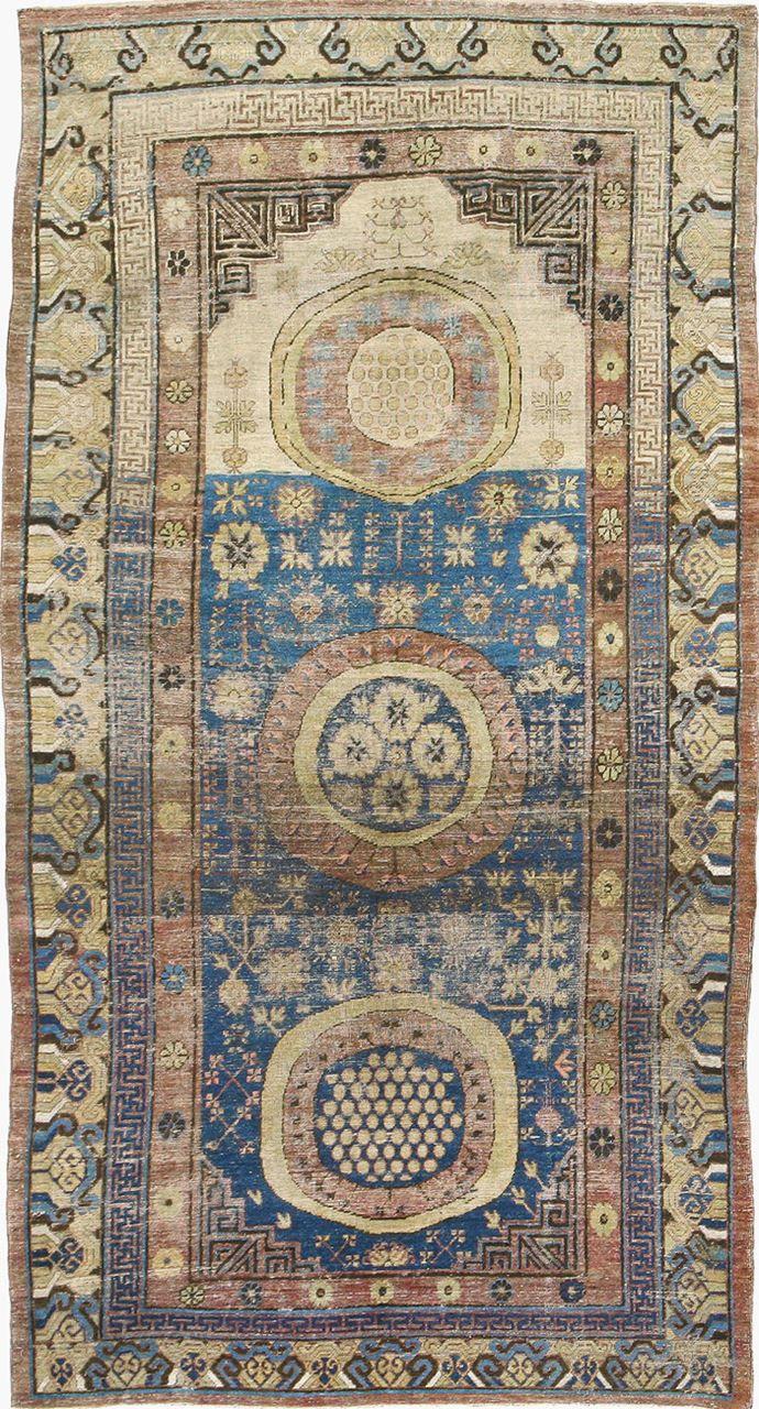 """Turkestanian Samarkand rug,  5' 10"""" x 11' 0"""""""