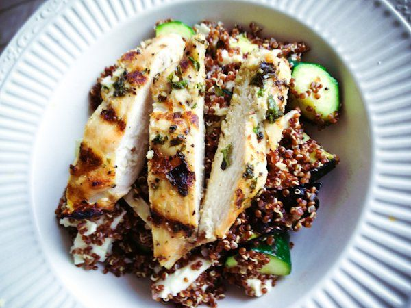 Quinoa with Grilled Chicken and Zucchini