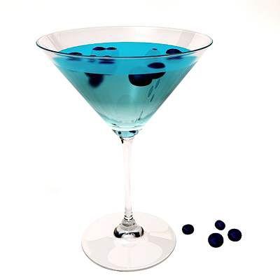 Черничный мартини (Martini Blueberry cocktail)