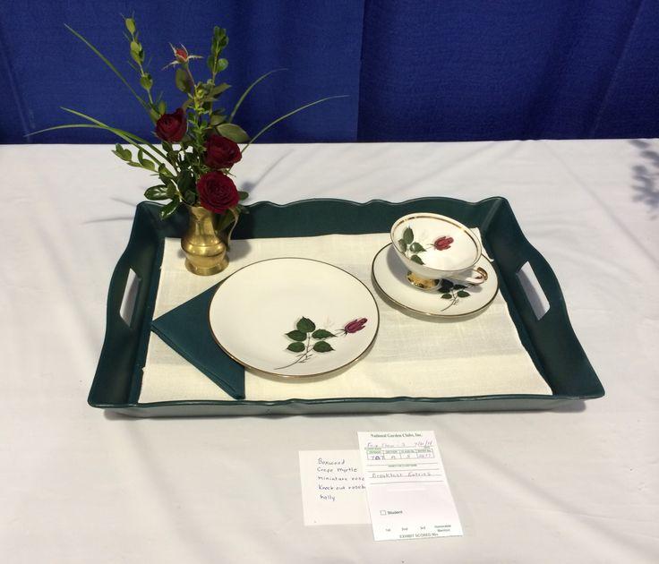 Ozark Empire Fair Flower Show III. Breakfast Tray. Judi Ruzicka.