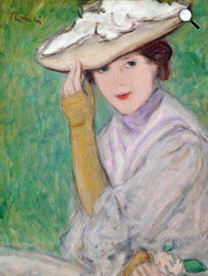 Rippl-Rónai József, Kalapos nő, 1927