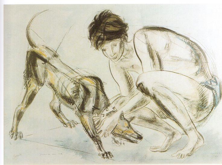 Il giovane e il cane
