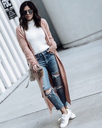 Fall uniform PS this long cardi is only $60 Shop the look by clicking the link in my bio http://liketk.it/2td3N #liketkit @liketoknow.it #longcardigan #rippeddenim #fallfashion #streetstyle