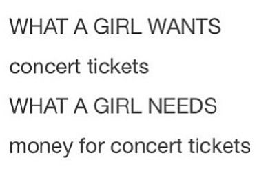 Yeah R5 concert tickets!! I have never seen something so accurate in my life.