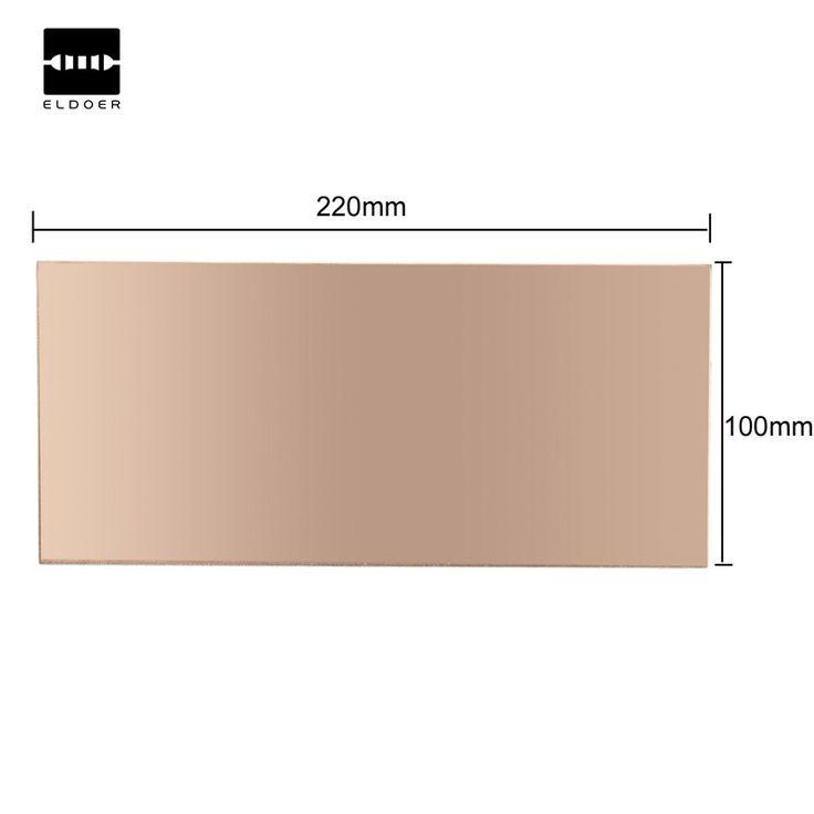 1 ST 100x220x1.5mm Dubbelzijdig Koper Bekleed Plaat PCB Printplaat FR4 Laminaat gloednieuwe duurzaam in gebruik