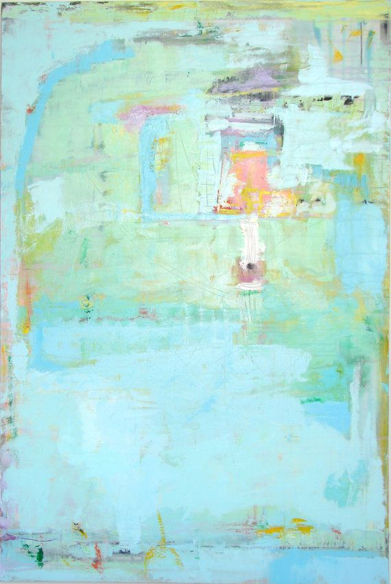 ABSTRACT PAINTING BLUE large acrylic fine art by CherylWasilowArt, $2200.00