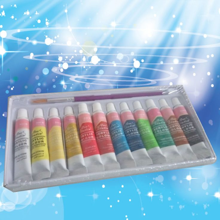 12 Colors Professional Acrylic Paints Set Hand Painted Wall Painting Textile Paint Brightly Colored Art Supplies Free Shipping #>=#>=#>=#>=#> Click on the pin to check out discount price, color, size, shipping, etc. Save and like it!