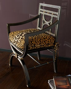 Roman chair with cheetah cushion: John Richard Collection, Cheetah Roman, Chairs, Living Room, Collection Cheetah, Leopard