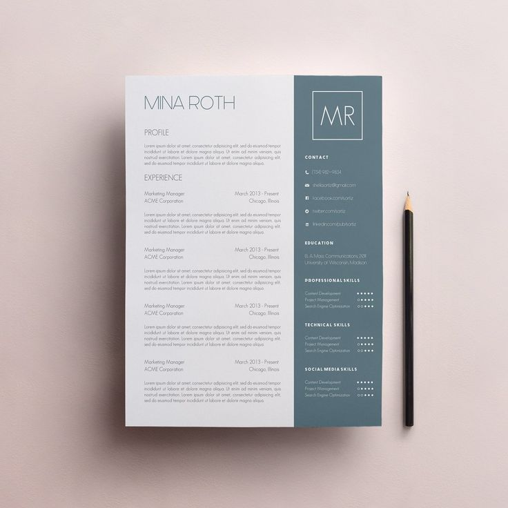 Resume Template Cover Letter Template The Sara By Phdpress: 34 Best Creative Resumes At Creative Market Images On