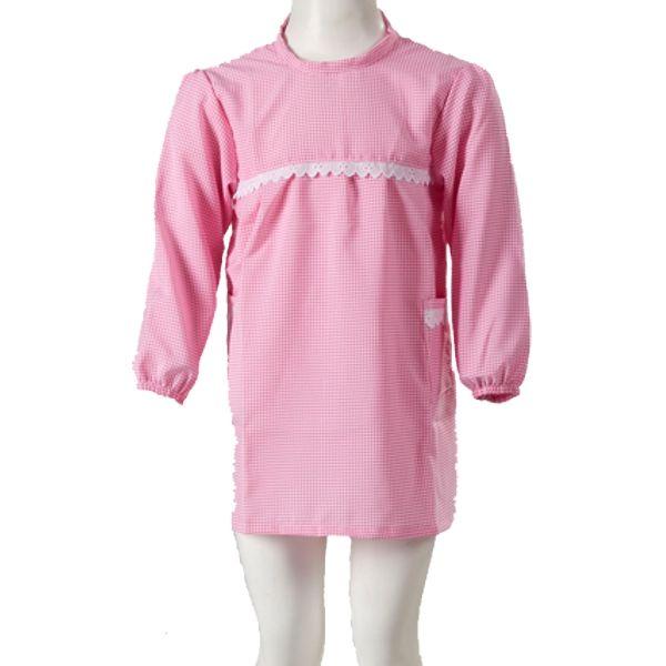 A Bata Escolar Menina, é uma bata de padrão aos quadrados , com mangas compridas e gola redonda. Bata de excelente qualidade 100% Polester