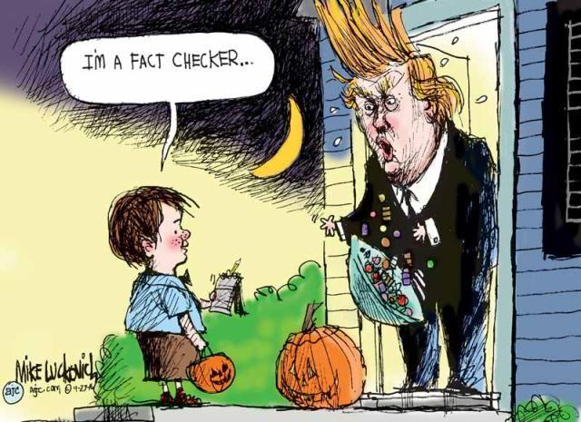Frightfully Funny Halloween Memes and Cartoons: Trump Fact-Checker