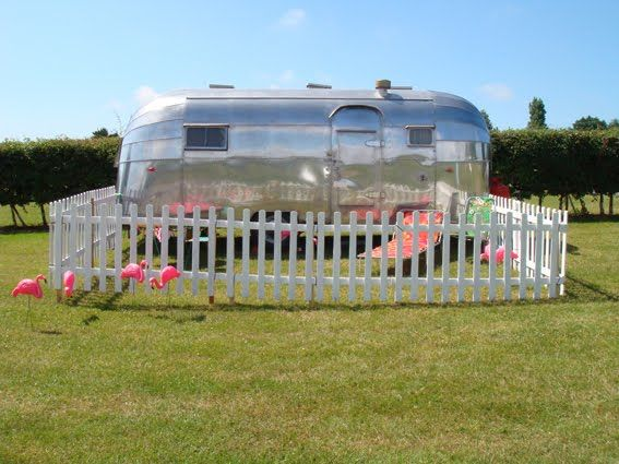 Airstream picket fence: Picket Fences, Ideas, Dream, Travel Trailers, Happy Campers, Trailer Park, Fence Airstream