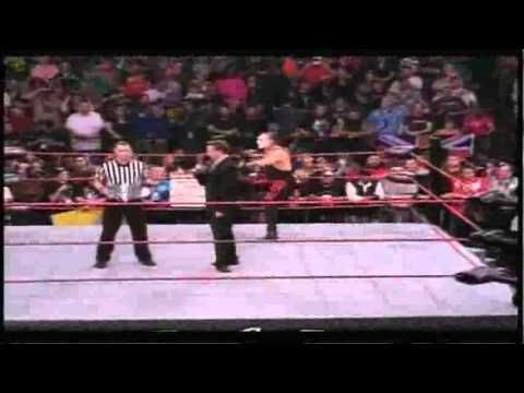 TNA Victory Road 2011 - Sting vs Jeff Hardy - TNA World Heavyweight Championship drug incident. (Hardy shows up high.)