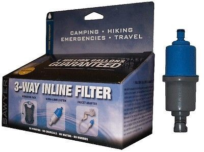 Other Bottles and Hydration 181410: Sawyer 3 Way Inline Camping Water Filter (Sp122) BUY IT NOW ONLY: $58.95